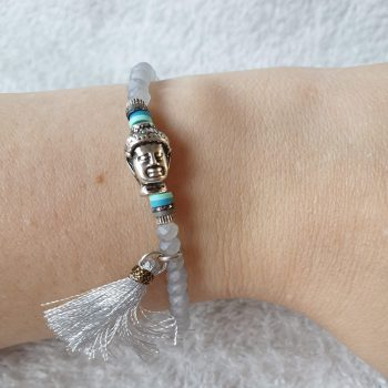 buddha armband grijs
