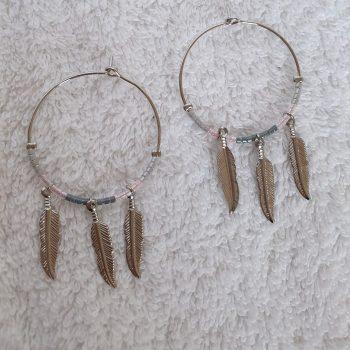 veren oorbellen zilver 2