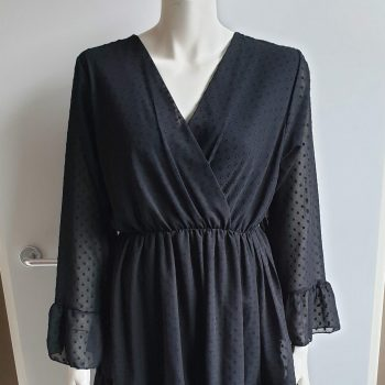 dots jurk zwart