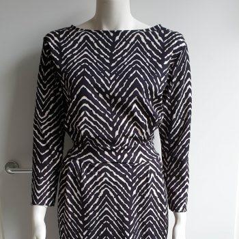 zwart wit jurk