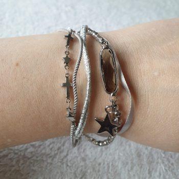 armband grijs