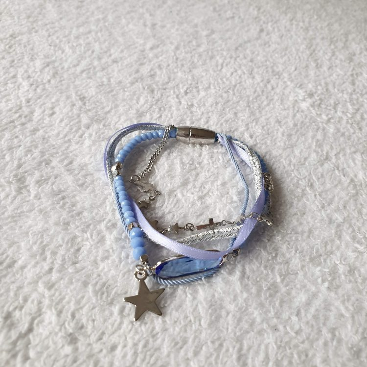 ster blauw armband