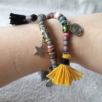 dubbele armband grijs