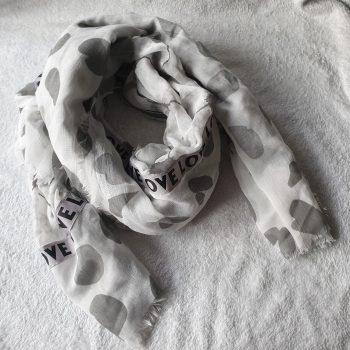 love sjaal grijs