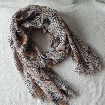 snake sjaal bruin