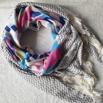 ster sjaal zilver