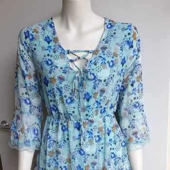 bloemen jurk blauw