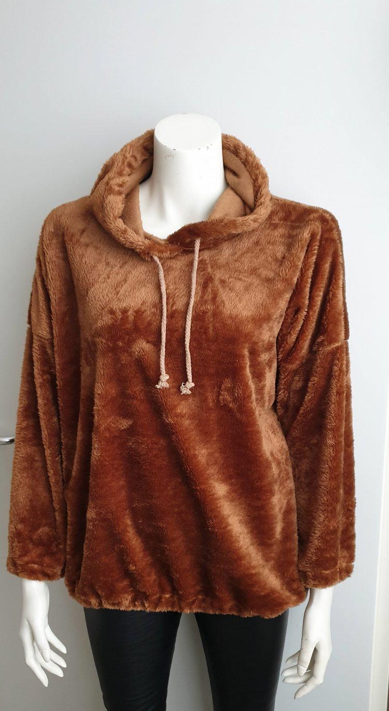 teddy trui camel