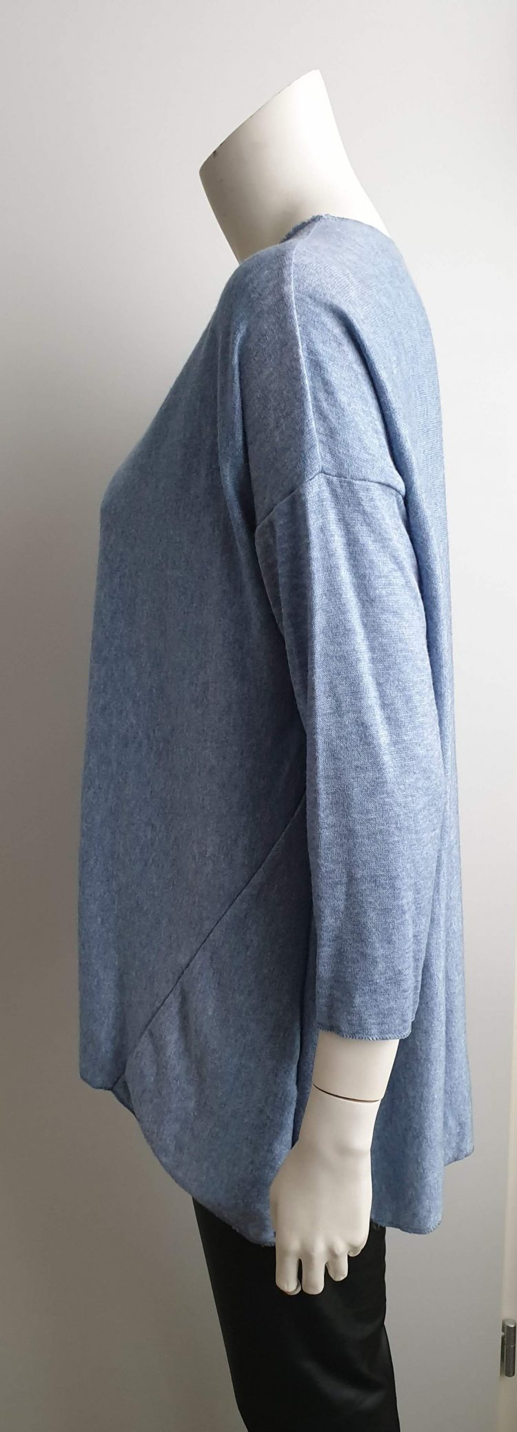 soft trui jeansblauw